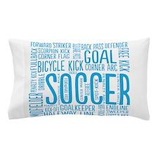 Soccer Word Cloud Pillow Case