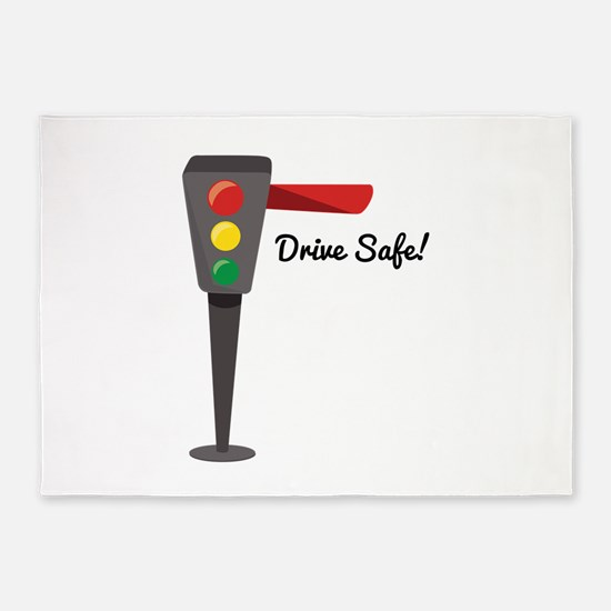 Drive Safe 5'x7'Area Rug