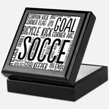 Soccer Word Cloud Keepsake Box