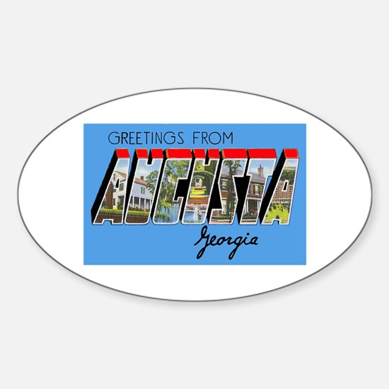 Augusta Georgia Greetings Oval Decal
