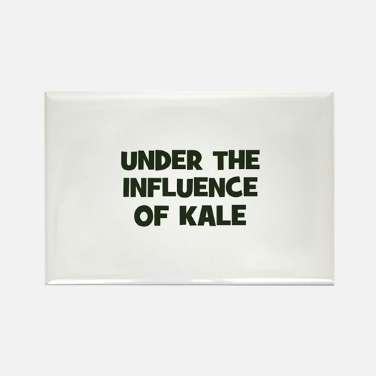 under the influence of kale Rectangle Magnet
