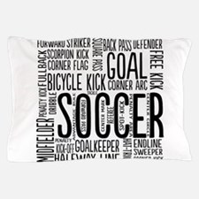 Soccer Word Cloud Pillow Case