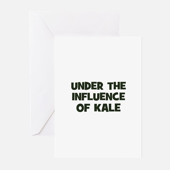 under the influence of kale Greeting Cards (Packag