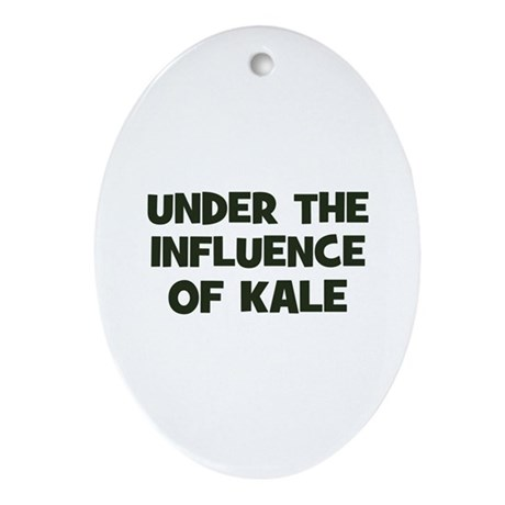 under the influence of kale Oval Ornament