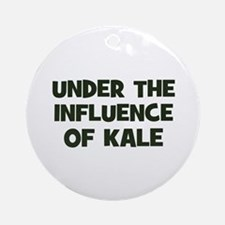 under the influence of kale Ornament (Round)