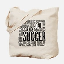 Soccer Word Cloud Tote Bag