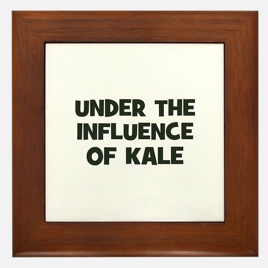 under the influence of kale Framed Tile