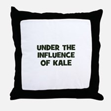 under the influence of kale Throw Pillow