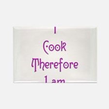 I Cook Therefore I Am 6 Rectangle Magnet