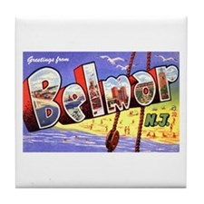 Belmar New Jersey Greetings Tile Coaster