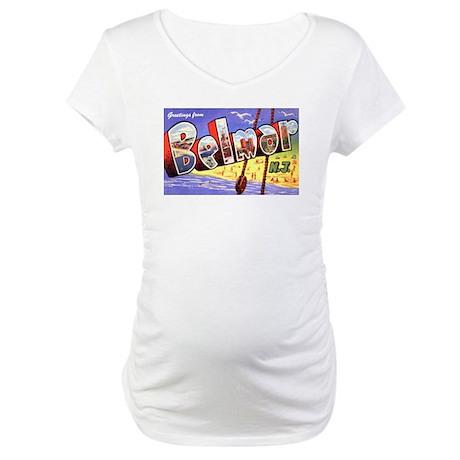 Belmar New Jersey Greetings Maternity T-Shirt