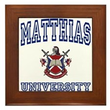 MATTHIAS University Framed Tile