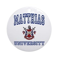 MATTHIAS University Ornament (Round)