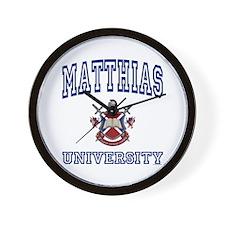 MATTHIAS University Wall Clock