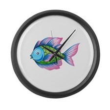 EXOTIC FISH Large Wall Clock