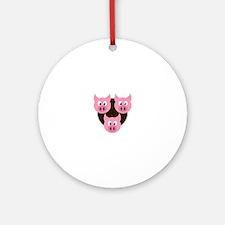 Three Little Pigs Ornament (Round)