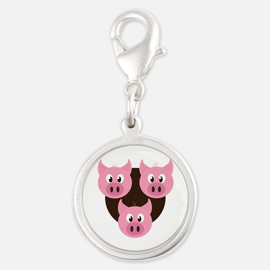 Three Little Pigs Charms