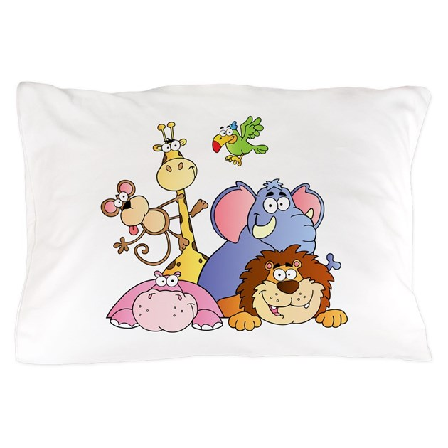 Jungle Animals Pillow Case by bonfiredesigns