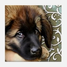 Leonberger Dog Tile Coaster