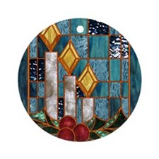 Christmas Candles Round Ornament