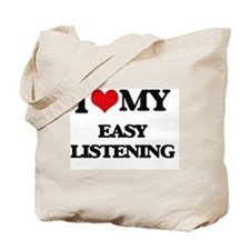 Funny Easy listening Tote Bag