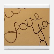 Cute Written word Tile Coaster