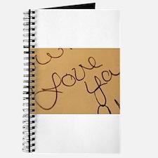 Cute Written word Journal