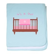 Its A Girl baby blanket