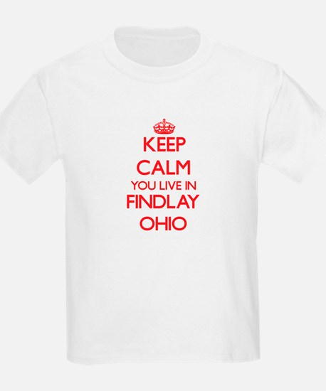 Keep calm you live in Findlay Ohio T-Shirt