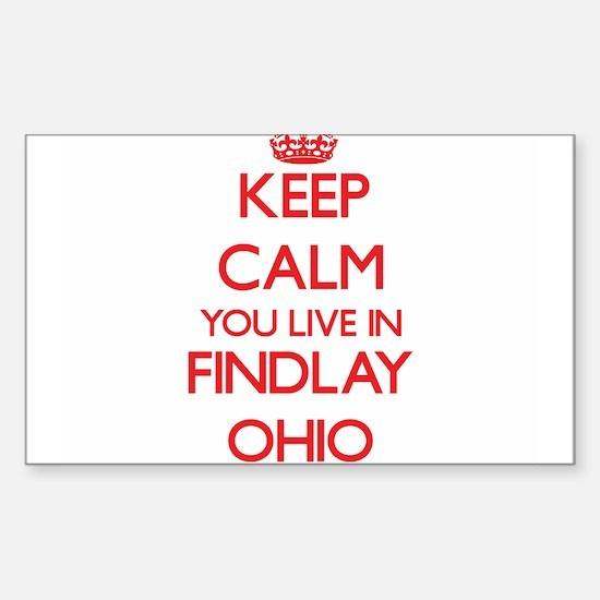 Keep calm you live in Findlay Ohio Decal