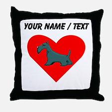 Custom Schnauzer Heart Throw Pillow