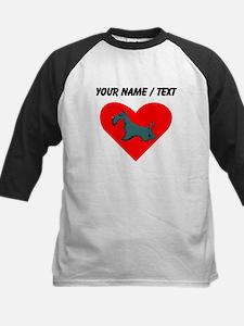 Custom Schnauzer Heart Baseball Jersey
