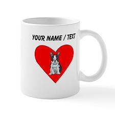 Custom Boston Terrier Heart Mugs