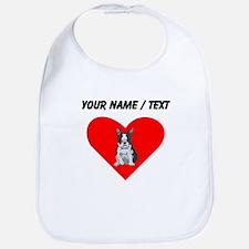 Custom Boston Terrier Heart Bib