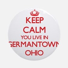 Keep calm you live in Germantown Ornament (Round)