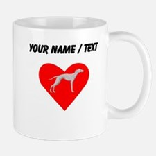 Custom Whippet Heart Mugs