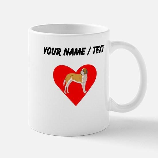 Custom St Bernard Heart Mugs