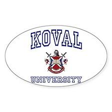 KOVAL University Oval Decal