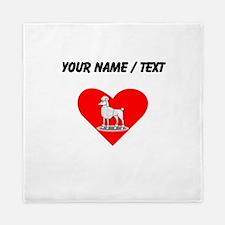 Custom Poodle Heart Queen Duvet