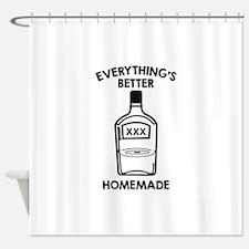 Everything's Better Homemade Shower Curtain