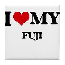 I Love My FUJI Tile Coaster