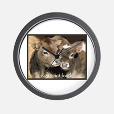Not Food- Cows Wall Clock