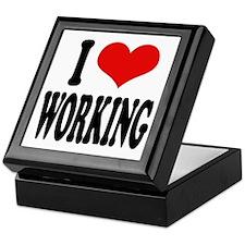 I Love Working Keepsake Box