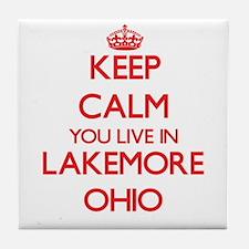 Keep calm you live in Lakemore Ohio Tile Coaster