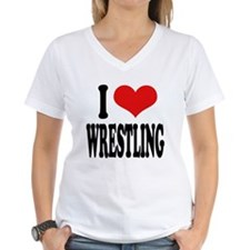 I Love Wrestling Shirt