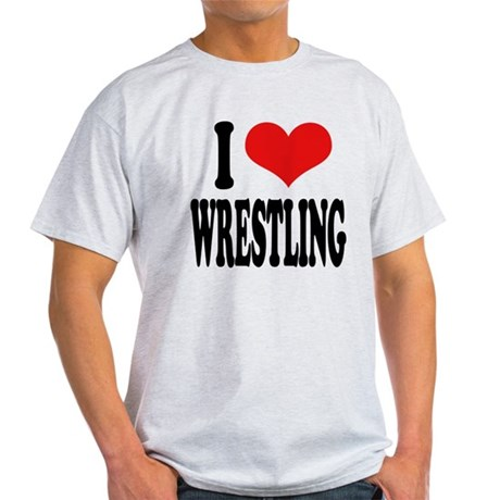 I Love Wrestling Light T-Shirt