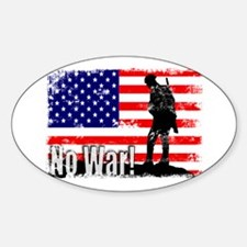 No War Oval Decal