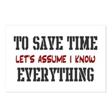 Just Assume I Know Everything Postcards (Package o