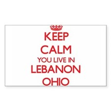 Keep calm you live in Lebanon Ohio Decal