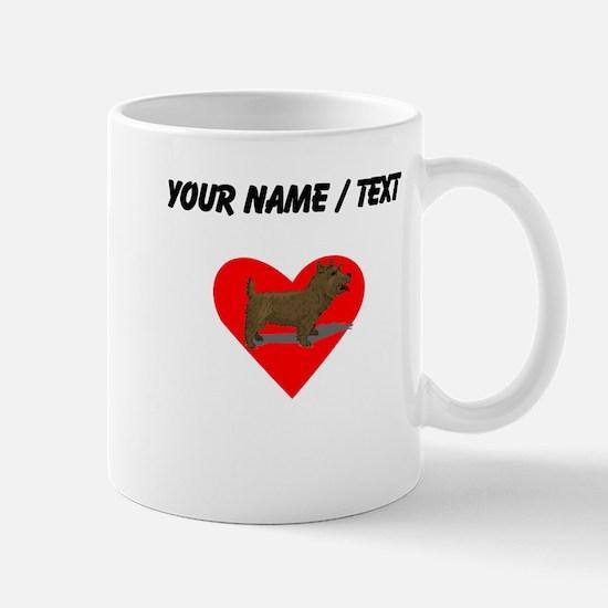 Custom Norwich Terrier Heart Mugs